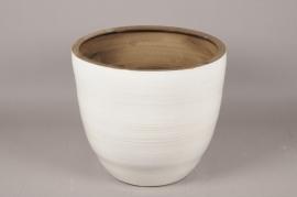 A085LE Planter ceramic white D46cm H41cm