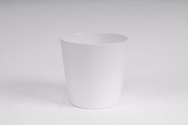 Planter ceramic white matte D16 H15cm