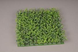 x374nn Plaque de graminées artificielles vert 25 x 25cm H4cm