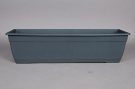 Plastic flower box anthracite 80x17x16cm
