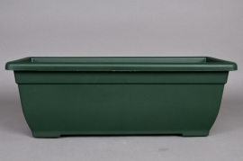 A091NT Plastic flower box green 60 x 24cm H21cm