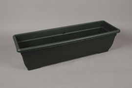 A093NT Plastic flower box green 80 x 24cm H21cm
