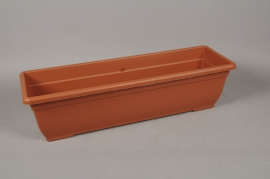A092NT Plastic flower box terracotta 80 x 24cm H21cm