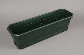 A081H7 Plastic planter green L60cm