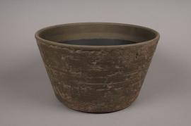 A001N6 Plastic pot brown D46cm H27cm