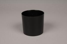 A018R2 Plastic vase cylinder black D9cm H8cm