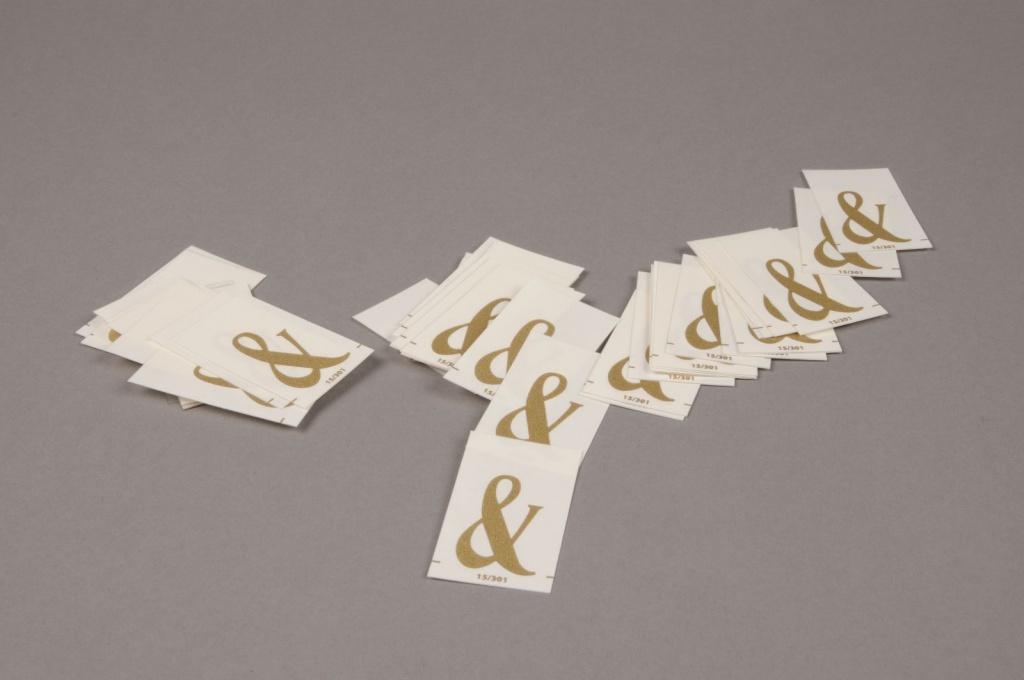 A113K4 Pochette de 50 lettres & 33mm