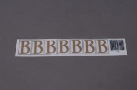 Pochette de 50 lettres B 33mm