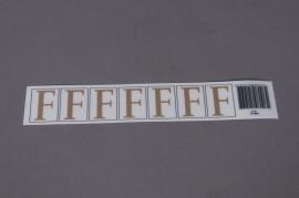 A007K4 Pochette de 50 lettres F 33mm