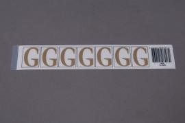 A008K4 Pochette de 50 lettres G 33mm