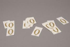 A018K4 Pochette de 50 lettres Q 33mm