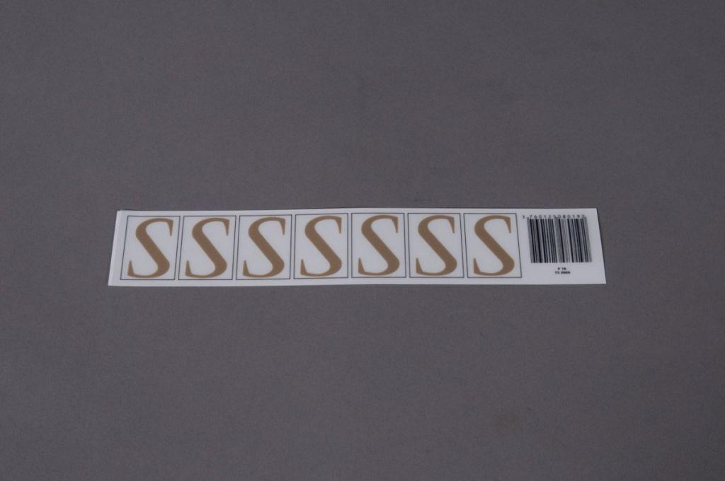 A020K4 Pochette de 50 lettres S 33mm
