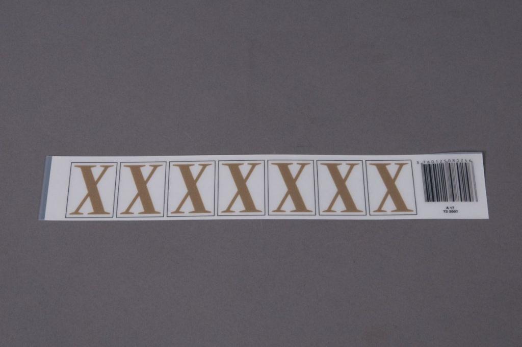 A025K4 Pochette de 50 lettres X 33mm