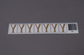 A026K4 Pochette de 50 lettres Y 33mm