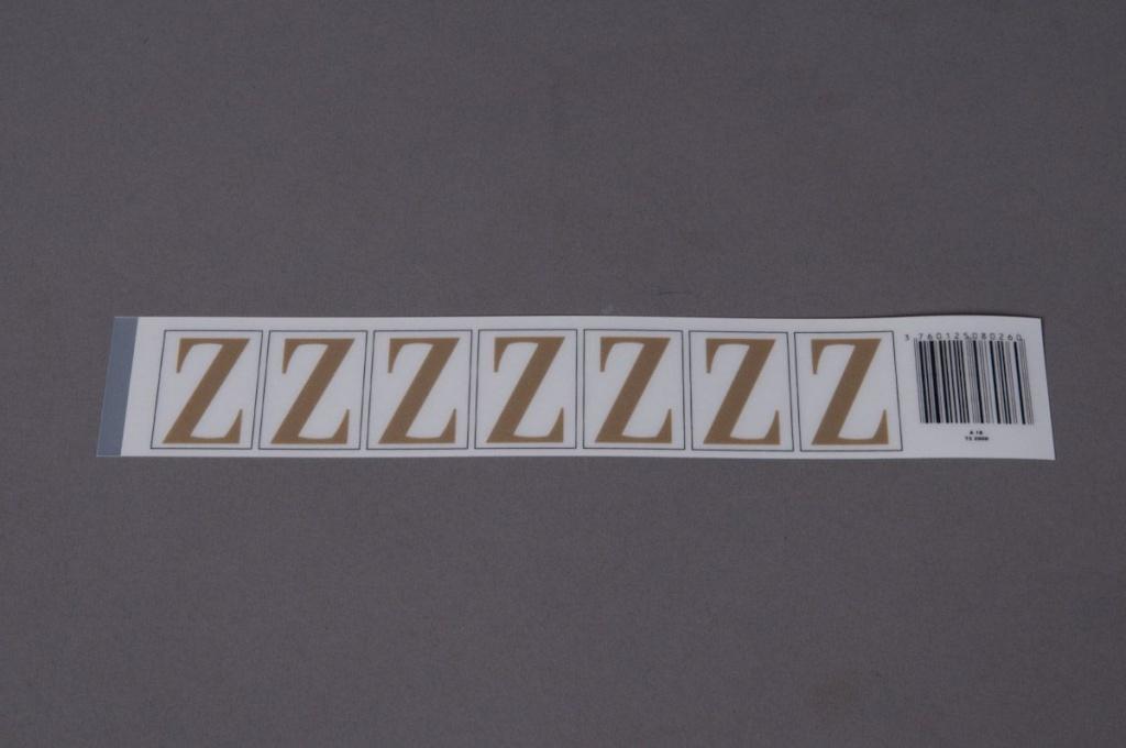 A027K4 Pochette de 50 lettres Z 33mm