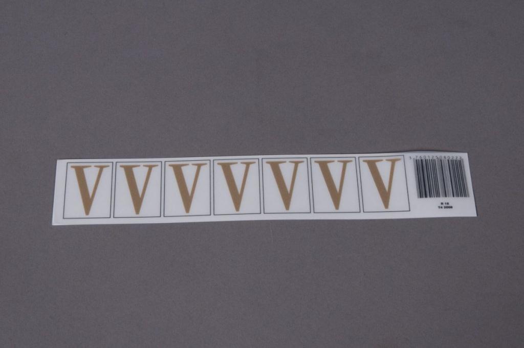 A023K4 Pochette de 70 lettres V 33mm