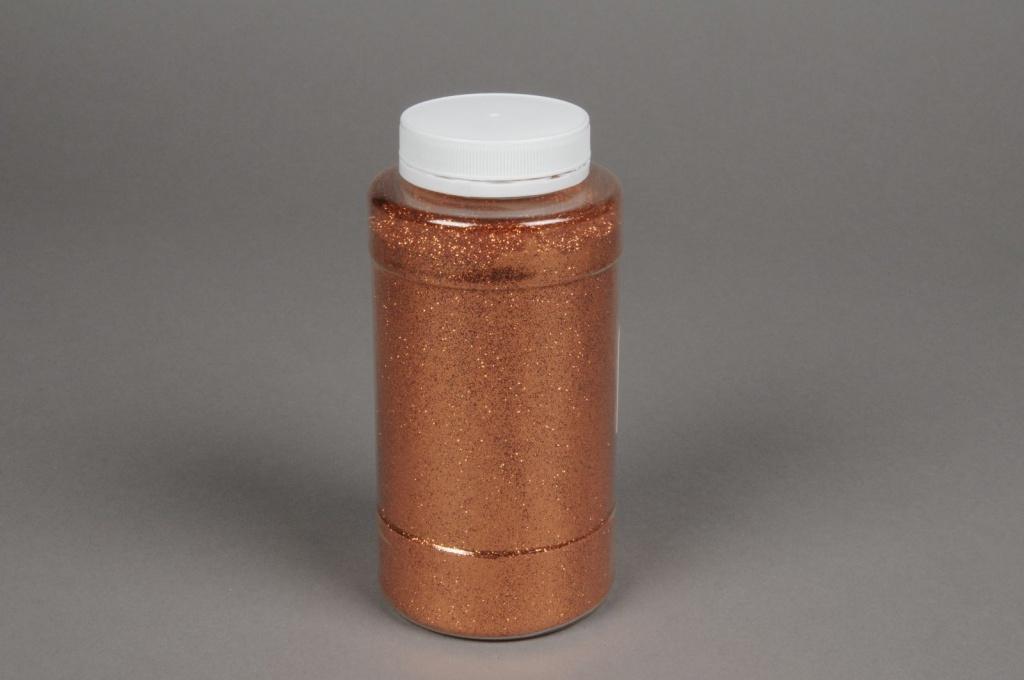 X043BW Pot 400g paillettes cuivre rosé