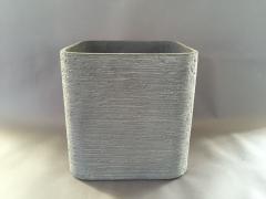 Cache-pot en fibre gris anthracite D35cm H30cm