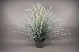 x010dg Pot de graminées artificielles gris H115cm