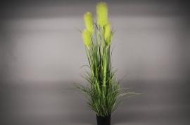 x005dg Pot de graminées artificielles vert H150cm