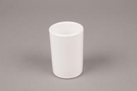 B371WV White ceramic pot D6cm H9cm