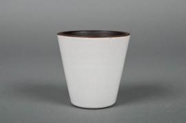 A119QS Pot en céramique blanc D7 H8cm
