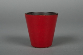 A125QS Ceramic pot red D7 H8cm