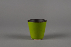 A120QS Ceramic pot green D7 H8cm