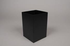 A000BL Pot en métal noir 10cm x 10cm H15cm