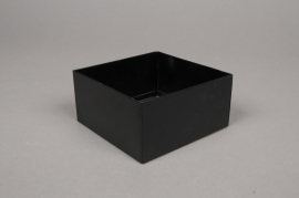 A003BL Pot en métal noir 10cm x 10cm H5cm