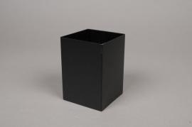 A002BL Pot en métal noir 7cm x 7cm H10cm