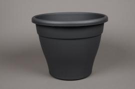 A095H7 Pot en plastique botanique anthracite D30cm H24.5cm