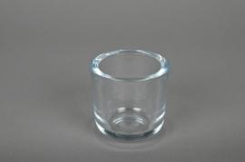 Pot en verre D7,5 H7,5cm