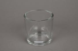 A037I0 Pot en verre épais D10cm H10cm