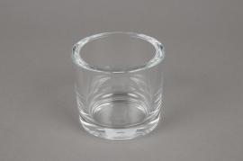 A036I0 Pot en verre épais D9cm H8cm