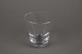 A647W3 Pot en verre évasé D9cm H10cm