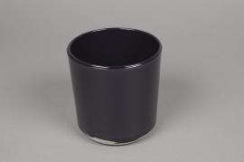 A020R4 Pot en verre violet D13cm H13cm