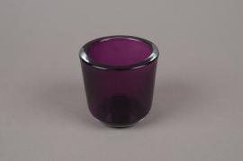 A670IH Pot en verre violet D7,5 H7,5cm
