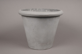Cement fiber pot light grey 37x37cm H37cm