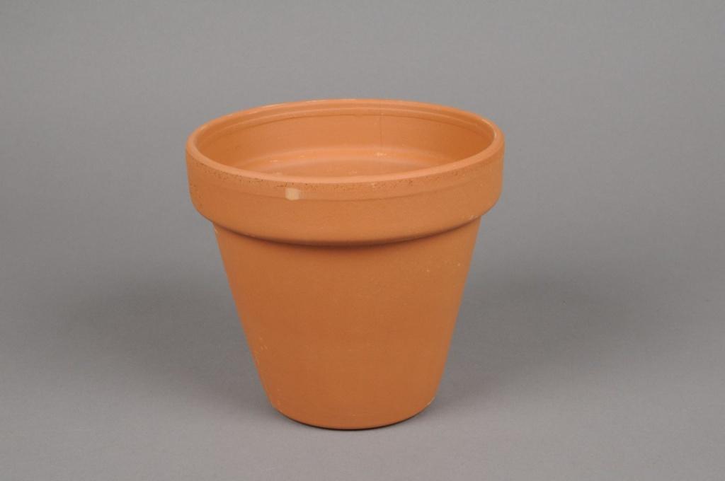 A041KF Pot horticole en terre cuite D15cm H14cm