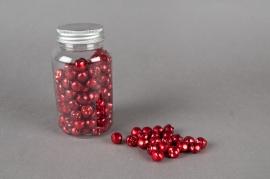 Pot of 150 jingle bells red D1,2cm