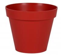 A101A6 Pot toscane rouge rubis D30cm H26cm
