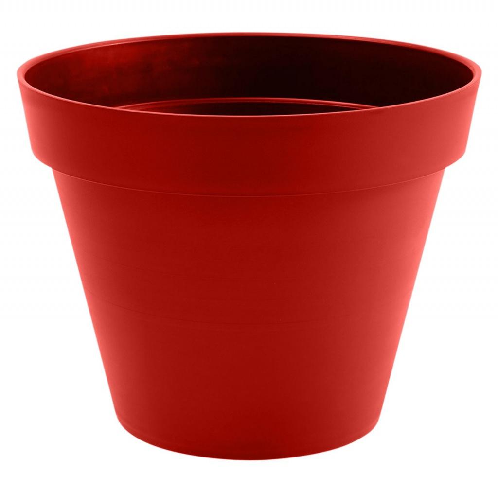 A104A6 Pot toscane rouge rubis D60cm H47cm