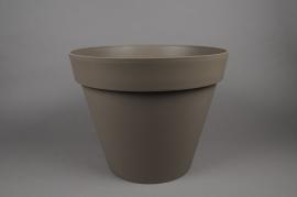 A017A6 Pot toscane taupe D40 H32cm