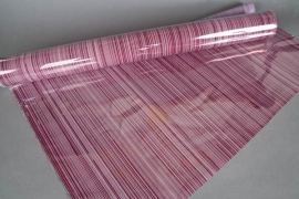 A718QX Purple roll of cellophane tube 80cm x 50m