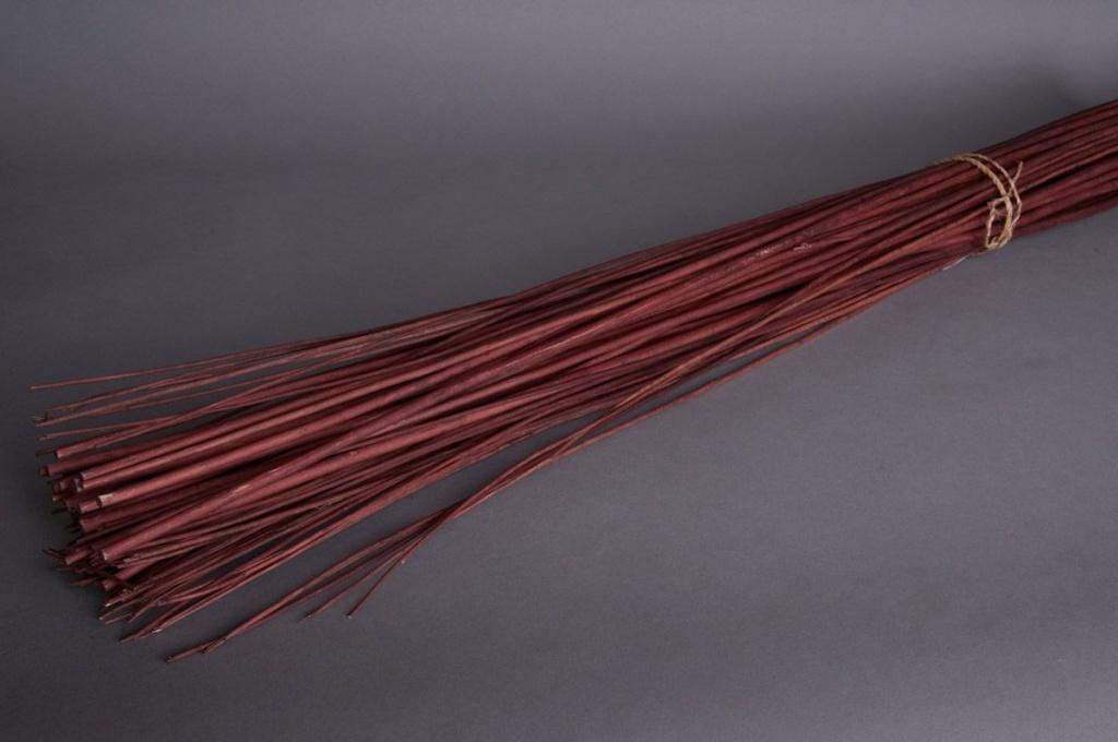pv09sx Osier écorcé  chocolat H180cm