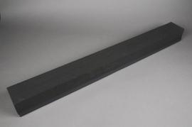 B167QV Raquette mousse florale noir L100cm