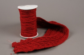 X000HX Red wool ribbon 15cm x 220cm