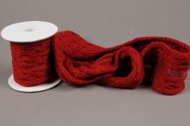 X002HX Red wool ribbon 8cm x 2m20