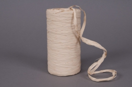 Roll of synthetic raffia ivory 200m